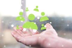 άνθρωποι δικτύων ομάδας έννοιας δυαδικού κώδικα ανασκόπησης κοινωνικοί Στοκ εικόνες με δικαίωμα ελεύθερης χρήσης