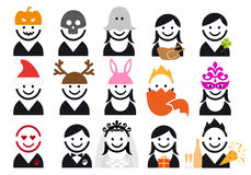 άνθρωποι εικονιδίων διακοπών που τίθενται διανυσματικοί Στοκ φωτογραφίες με δικαίωμα ελεύθερης χρήσης
