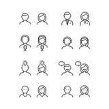 Άνθρωποι εικονιδίων, διάνυσμα Στοκ Εικόνα