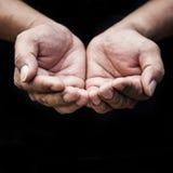 Άνθρωποι επαιτών και ανθρώπινη έννοια ένδειας στοκ εικόνα