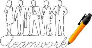 Άνθρωποι εργασίας επιχειρησιακών ομάδων σχεδίων απεικόνιση αποθεμάτων