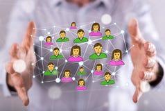 άνθρωποι δικτύων ομάδας έννοιας δυαδικού κώδικα ανασκόπησης κοινωνικοί Στοκ φωτογραφία με δικαίωμα ελεύθερης χρήσης