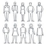 Άνθρωποι καθορισμένοι γραμμικός ελεύθερη απεικόνιση δικαιώματος