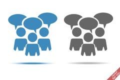 Άνθρωποι και διανυσματικό εικονίδιο σύννεφων συζήτησης Στοκ εικόνες με δικαίωμα ελεύθερης χρήσης