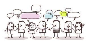 Άνθρωποι και κοινωνικό δίκτυο ελεύθερη απεικόνιση δικαιώματος
