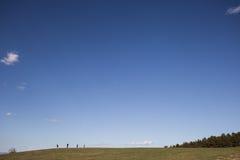 Άνθρωποι και ουρανός Στοκ Εικόνες