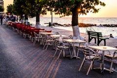Άνθρωποι και περιβάλλον της τουρκικής πόλης παραλιών Στοκ εικόνα με δικαίωμα ελεύθερης χρήσης