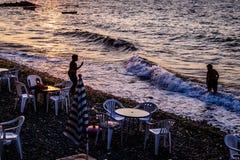 Άνθρωποι και περιβάλλον της τουρκικής πόλης παραλιών Στοκ φωτογραφία με δικαίωμα ελεύθερης χρήσης