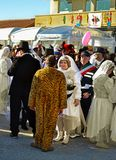 Άνθρωποι καρναβαλιού στις μάσκες Στοκ εικόνα με δικαίωμα ελεύθερης χρήσης