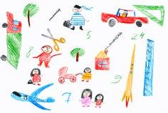 Άνθρωποι κινούμενων σχεδίων και αστεία συλλογή παιχνιδιών Στοκ Εικόνες