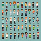 Άνθρωποι κινούμενων σχεδίων ομάδας Στοκ Εικόνες