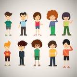 Άνθρωποι κινούμενων σχεδίων ομάδας Διανυσματική απεικόνιση