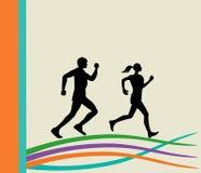 άνθρωποι μανεκέν δραστηριότητας που τρέχουν τη σκιαγραφία Στοκ φωτογραφία με δικαίωμα ελεύθερης χρήσης