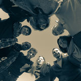 άνθρωποι ομάδας κύκλων Στοκ Εικόνες
