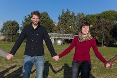 άνθρωποι ομάδας κύκλων Στοκ Εικόνα