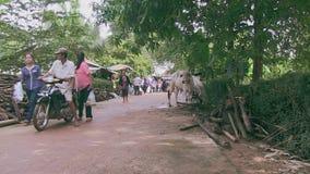 Άνθρωποι, οδηγός moto, taxo Καμπότζη απόθεμα βίντεο
