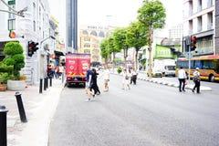 Άνθρωποι, πεζός και δρόμος Στοκ Εικόνα