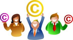άνθρωποι πνευματικών δικαιωμάτων απεικόνιση αποθεμάτων