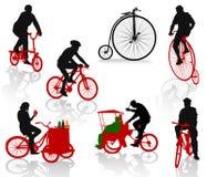 άνθρωποι ποδηλάτων διανυσματική απεικόνιση