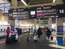 Άνθρωποι που έρχονται στο σταθμό στη Χιροσίμα, Ιαπωνία Στοκ φωτογραφίες με δικαίωμα ελεύθερης χρήσης
