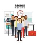 Άνθρωποι που απασχολούνται στο σχέδιο Στοκ Εικόνα