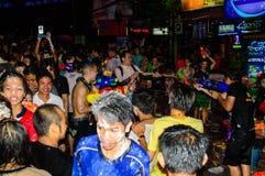 Άνθρωποι που γιορτάζουν την παραδοσιακή ημέρα Songkran. Στοκ φωτογραφίες με δικαίωμα ελεύθερης χρήσης