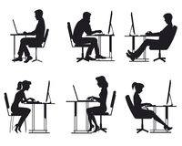 Άνθρωποι που εργάζονται στον υπολογιστή Απεικόνιση αποθεμάτων