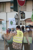 Άνθρωποι που διαμαρτύρονται ενάντια στην ατμοσφαιρική ρύπανση Στοκ Φωτογραφίες