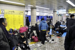 άνθρωποι που κοιμούνται &tau Στοκ Εικόνες