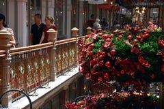 Άνθρωποι που περπατούν και που ψωνίζουν στο σκέλος Στοκ Εικόνα
