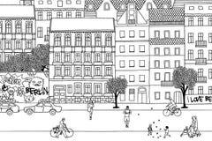 Άνθρωποι που περπατούν μέσω του Βερολίνου Στοκ φωτογραφίες με δικαίωμα ελεύθερης χρήσης