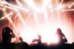 Άνθρωποι που σε μια συναυλία στοκ εικόνα με δικαίωμα ελεύθερης χρήσης