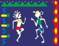 Άνθρωποι που χορεύουν στο καρναβάλι Στοκ φωτογραφίες με δικαίωμα ελεύθερης χρήσης