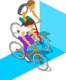 Άνθρωποι δραστηριότητας ποδηλάτων Στοκ εικόνα με δικαίωμα ελεύθερης χρήσης