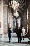 Άνθρωποι σε έναν καθεδρικό ναό Στοκ εικόνα με δικαίωμα ελεύθερης χρήσης