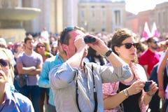 Άνθρωποι σε Βατικανό Στοκ φωτογραφίες με δικαίωμα ελεύθερης χρήσης