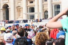 Άνθρωποι σε Βατικανό Στοκ φωτογραφία με δικαίωμα ελεύθερης χρήσης