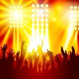 Άνθρωποι σε μια συναυλία διανυσματική απεικόνιση