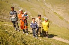 Άνθρωποι σε Kyrgystan Στοκ Εικόνα