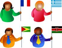 άνθρωποι σημαιών Στοκ Εικόνες