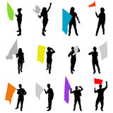 άνθρωποι σημαιών Στοκ φωτογραφία με δικαίωμα ελεύθερης χρήσης