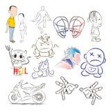 Άνθρωποι σκίτσων σώματος Στοκ Φωτογραφία