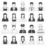 Άνθρωποι σταδιοδρομίας και εικονίδια επαγγέλματος καθορισμένοι Στοκ φωτογραφία με δικαίωμα ελεύθερης χρήσης