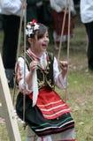 Άνθρωποι στα παραδοσιακά κοστούμια λαογραφίας Στοκ Εικόνες