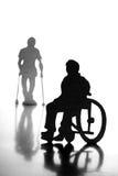 Άνθρωποι στην αναπηρική καρέκλα στοκ εικόνες