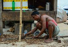 Άνθρωποι στην οδό στο Varanasi, Ινδία Στοκ φωτογραφίες με δικαίωμα ελεύθερης χρήσης