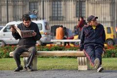 Άνθρωποι στην οδό της Λίμα, Περού Στοκ Φωτογραφία