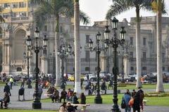 Άνθρωποι στην οδό της Λίμα, Περού Στοκ φωτογραφίες με δικαίωμα ελεύθερης χρήσης