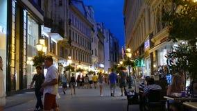 Άνθρωποι στην οδό Vaci στη Βουδαπέστη φιλμ μικρού μήκους