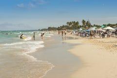 Άνθρωποι στην παραλία Αβάνα της Σάντα Μαρία Στοκ φωτογραφίες με δικαίωμα ελεύθερης χρήσης